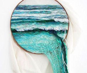 sea, blue, and art image