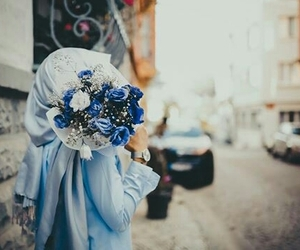 blue, hijab, and photography image