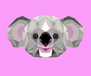 animal art, animals, and geometric shapes image