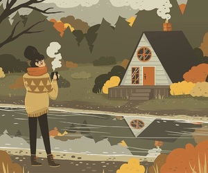 art, autumn, and illustration image