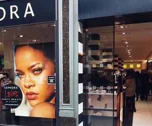 makeup, rihanna, and paradise image