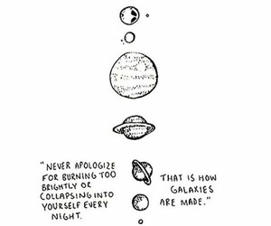 quotes, galaxy, and planet image