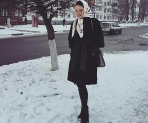 hijab, snow, and grozny image