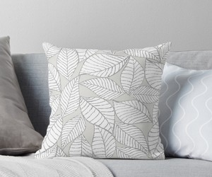 cushion, leaves, and textile image