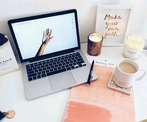 coffee, pink, and study image