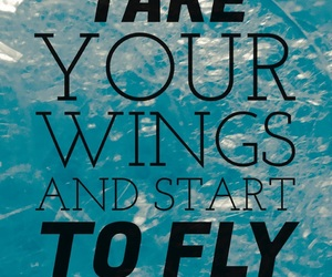 be yourself, wings, and love image