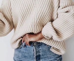 cozy, sweater weather, and jeans image