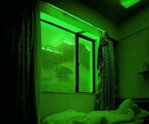 aesthetic, green, and neon image