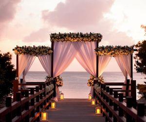 wedding, beach, and decor image