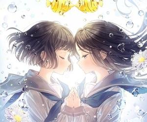 anime, anime girl, and fish image