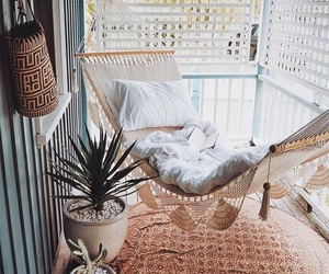 home, hammock, and decor image