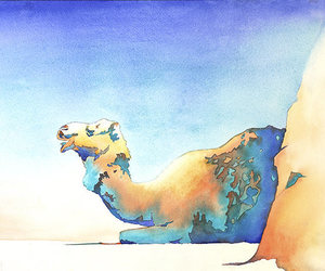 camel, etsy, and colorful painting image