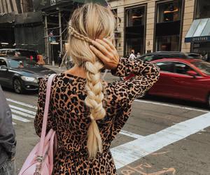 blonde, street, and braid image