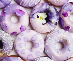 donuts, food, and purple image