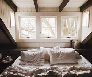 bedroom, home, and winter image