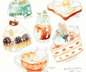 cakes, art drawing, and cute image