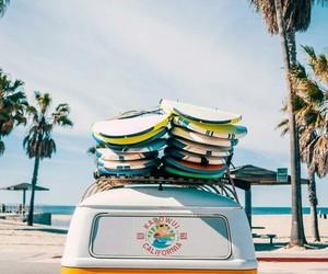 sea, california, and surf image