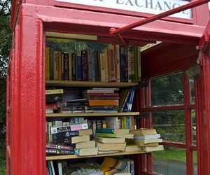book, london, and red image