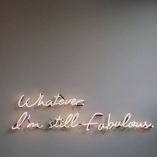 quotes, neon, and fabulous image