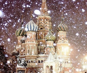 moscow, snow, and winter image