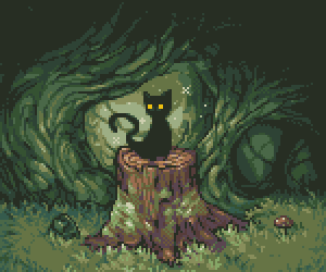 animal, cat, and forest image