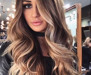 blonde, hair, and curly image