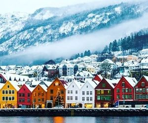 bergen, europe, and mountain image