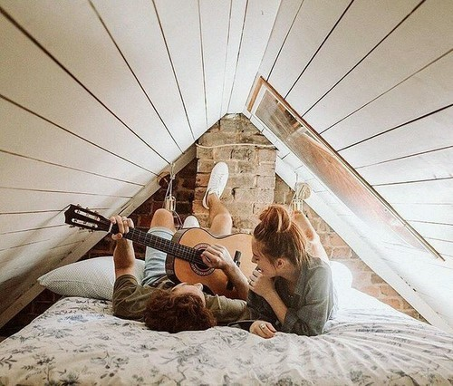 couple, love, and music image