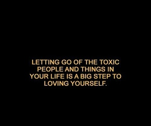 quotes, toxic, and love image