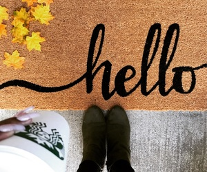 boots, fall, and front porch image