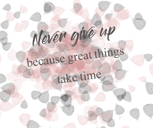 life, never give up, and quotes image
