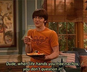 drake and josh, nachos, and funny image