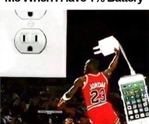 funny, battery, and Basketball image