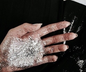 glitter, hand, and tumblr image
