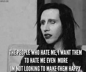 Marilyn Manson, quotes, and goth image