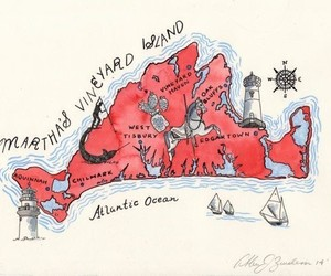 illustrations, preppy, and map image