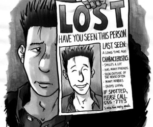 lost, sad, and depression image