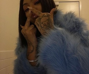 girl, blue, and nails image