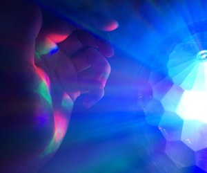 blue, hand, and light image