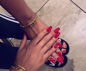 color, gold, and nails image