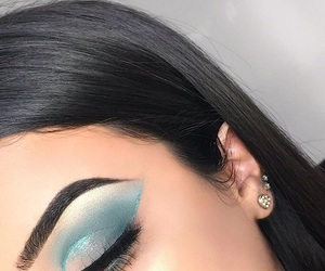 blue, lashes, and cut crease image