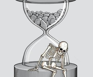 skeleton, time, and wait image