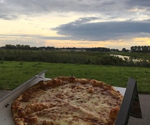 amsterdam, pizza, and sky image