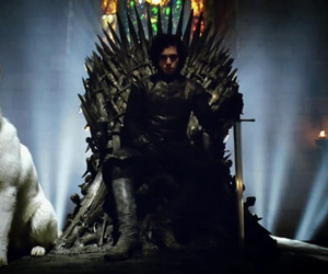 game of thrones, jon snow, and ghost image