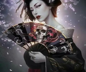 geisha and skull image