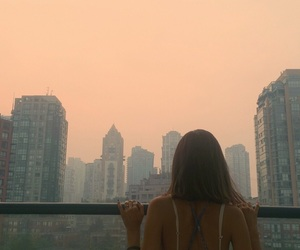 girl, city, and building image