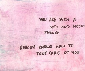 quotes, pink, and soft image