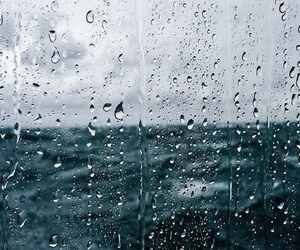 rain and sea image