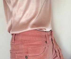 pink, jeans, and outfit image