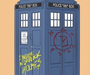 tardis, superwholock, and doctor who image